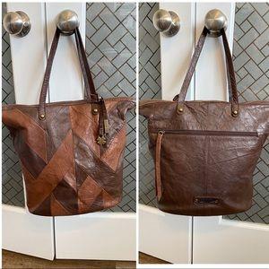 Lucky Brand Leather Pathwork Bag